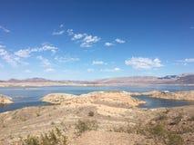 Il Lago Mead attualmente sta inaridendo Fotografia Stock