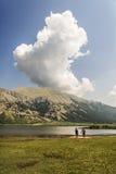 Il lago mountain Fotografia Stock