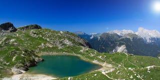 Il lago mountain (coldai) Fotografie Stock