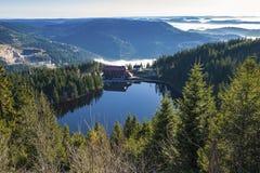 Il lago Mummelsee in Seebach Fotografia Stock Libera da Diritti