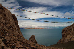Il lago nel Tibet Fotografie Stock