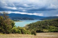 Il lago nuvoloso Fotografia Stock