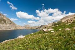 Il lago perso man è situato nella foresta nazionale del fiume White in Colorado centrale Fotografia Stock