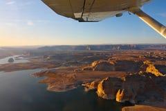 Il lago Powell ha fotografato dall'aereo. Fotografia Stock Libera da Diritti