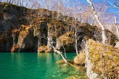 Il lago scenico delle montagne di Changbai fotografia stock