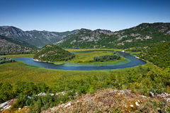 Il lago Skadar, Montenegro Fotografia Stock Libera da Diritti