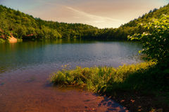 Il lago Superiore chekhov sakhalin Fotografia Stock Libera da Diritti