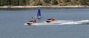 Il lago Superiore, Marquette, Michigan fotografie stock libere da diritti