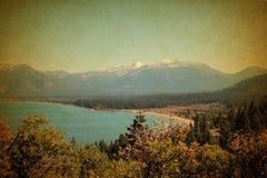 Il lago Tahoe California e catena montuosa Immagini Stock