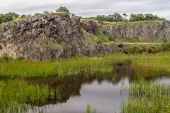 Il lago in una vecchia cava di pietra in Morro fa il landscap della montagna del gaucho fotografia stock libera da diritti