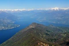 Il lago y Como immagini stock