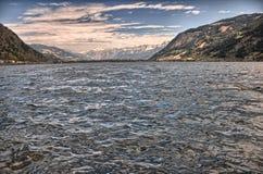 Il lago Zell vede fotografia stock libera da diritti