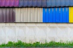Il lamiera galvanizzato variopinto Fotografia Stock Libera da Diritti