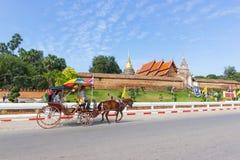 Il landò Lampang Lampang è la sola provincia in Tailandia con il pra di Wat che Lampang Luang fotografia stock libera da diritti