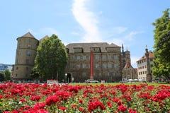 Il Landesmuseum Wuerttemberg il palazzo di Оld nel cuore di Stuttgart Immagine Stock