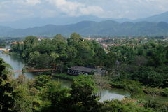 Il Laos dalla vista di occhi di uccello Fotografia Stock Libera da Diritti