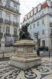 Il largo fa Chiado a Lisbona Fotografia Stock