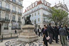 Il largo fa Chiado a Lisbona Fotografia Stock Libera da Diritti