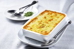 Il Lasagne umido Immagini Stock