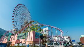 Il lasso di tempo della ruota di ferris gigante Cosmo cronometra 21 Yokohama ain Minatomirai, Giappone video d archivio