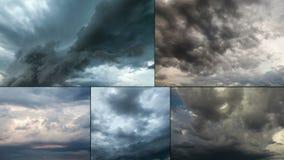 Il lasso di tempo della tempesta del Supercell multiscreen stock footage