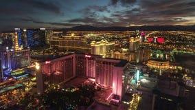 Il lasso di tempo di Las Vegas del dissoluto di Linq archivi video