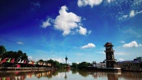 Il lasso di tempo più bello di alba al paesaggio di Kedah Malesia archivi video