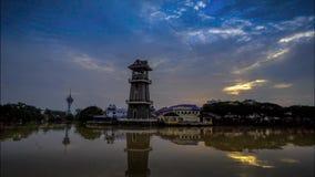 Il lasso di tempo più bello di alba a paesaggio di Kedah Malesia Immagini Stock Libere da Diritti