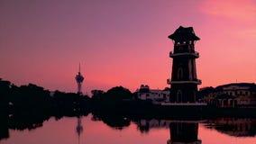 Il lasso di tempo più bello di alba a paesaggio di Kedah Malesia Fotografia Stock Libera da Diritti