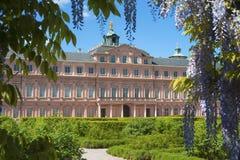 Il lato del giardino del castello della residenza in Rastatt Immagini Stock Libere da Diritti