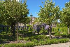 Il lato del giardino del castello della residenza in Rastatt Fotografia Stock Libera da Diritti