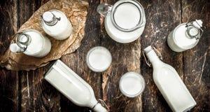 Il latte della mucca fresco immagini stock libere da diritti