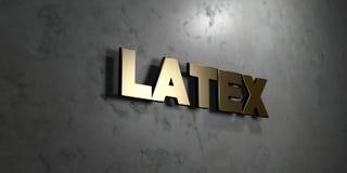 Il lattice - segno dell'oro montato sulla parete di marmo lucida - 3D ha reso l'illustrazione di riserva libera della sovranità Fotografie Stock