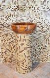 Il lavabo ha fatto la pietra del ââof Fotografie Stock Libere da Diritti