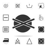 il lavaggio chimico è icona severa Insieme dettagliato delle icone della lavanderia Progettazione grafica di qualità premio Una d royalty illustrazione gratis