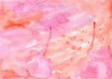 Il lavaggio del lavoro manuale dell'acquerello che dipinge la struttura variopinta per differisce Fotografie Stock Libere da Diritti
