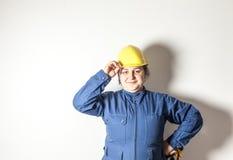 Il lavoratore duro femminile ama il suo lavoro Fotografia Stock