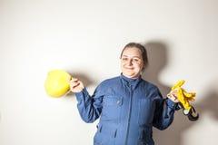 Il lavoratore duro femminile ama il suo lavoro Immagine Stock