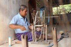 Il lavoro dell'uomo come seta Fotografie Stock