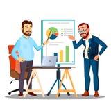 Il lavoro della gente come gruppo, discute una strategia di programma, discute il vettore Illustrazione isolata illustrazione vettoriale