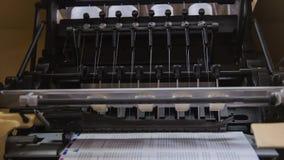 Il lavoro della stampa introduce la stamperia, fine su Fotografie Stock