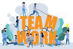 Il lavoro di squadra per raggiungere lo scopo illustrazione vettoriale