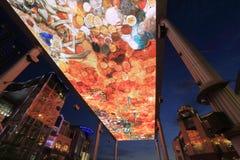 Il LED skyscreen Fotografia Stock Libera da Diritti