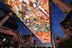 Il LED skyscreen Immagini Stock Libere da Diritti