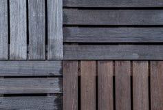 Il legno bagnato ribbed le plance della piattaforma dell'asse Quattro generi Immagini Stock Libere da Diritti