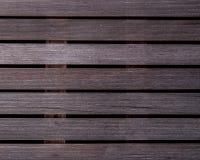 Il legno bagnato ribbed le plance della piattaforma dell'asse Quattro generi Fotografie Stock