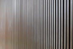 Il legno battens la linea retta della parete immagine stock libera da diritti