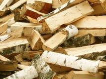 Il legno del fuoco ha scheggiato fotografie stock