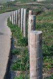 Il legno recinta le dune fotografia stock libera da diritti