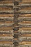 Il legno registra la struttura di vecchia casa Fotografie Stock Libere da Diritti